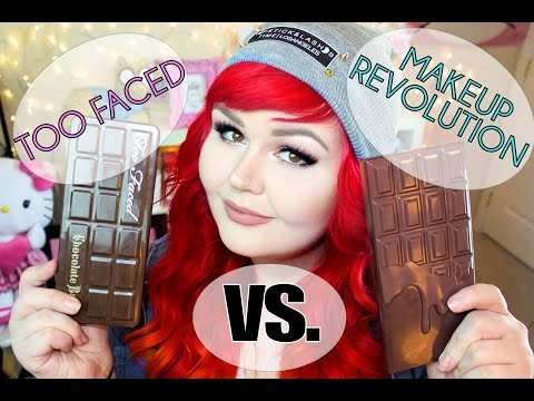Too Faced Chocolate Bar Palette VS Makeup Revolution I Heart Chocolate Palette   DUPE