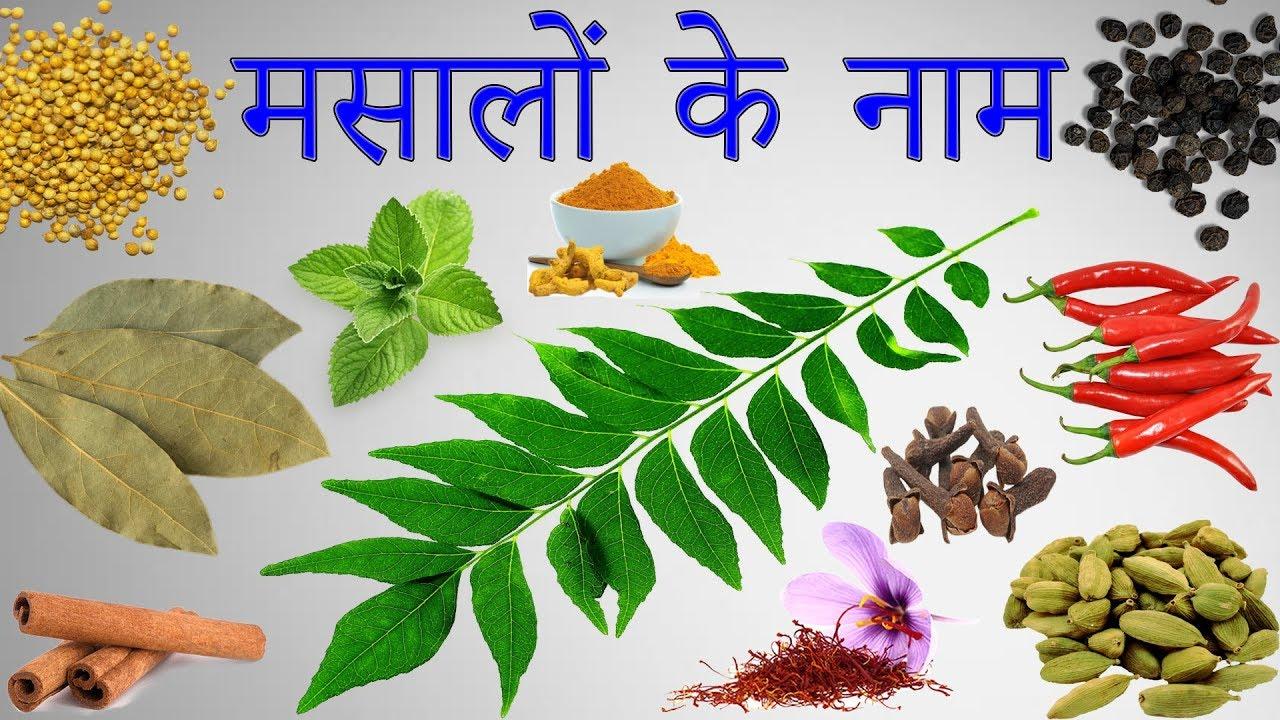 Spices Names in Hindi | मसालों के नाम हिंदी में | List Of Spices In Hindi |  Masalo Ke Naam | Spices