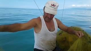 Fishing at a depth of 90 meters
