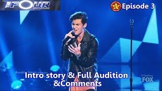 Sean cavaliere sings stitches (by shawn mendes).this is full performance of the audition and intro story with judges comments on four battle for stardom...