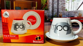 Edna Mode Cup and Saucer - Incredibles 2 Pixar Disney - Unboxing