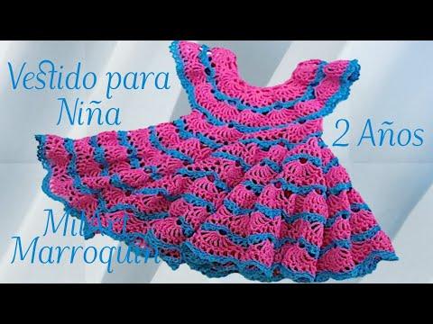 vestido crochet para ni a de 2 a os y m s paso a paso youtube. Black Bedroom Furniture Sets. Home Design Ideas