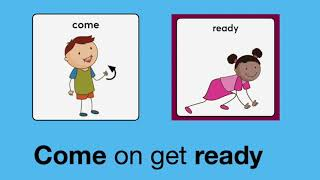 Get Ready for Group learning song! A fun, musical ritual for transitions to circle time with AAC