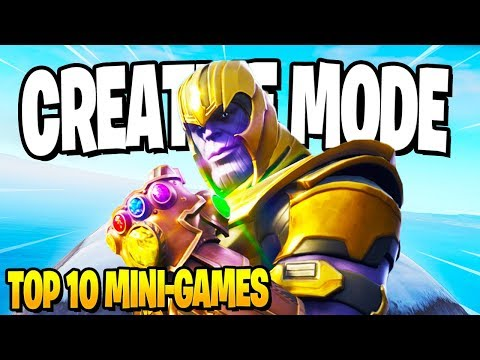 Top 10 *FUN* Fortnite Creative Mode Mini-Games! (Dodgeball, Hide and Seek, Deathrun) Codes Included