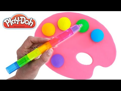 Thumbnail: Learn Colors with Play Doh Paint Pallet Ice Cream Peppa Pig Nursery Rhymes Fun & Creative Kids RL