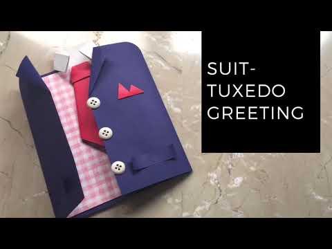 How to make DIY - tuxedo coat greeting card