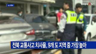 전북 교통사고 치사율, 9개 도 지역 중 가장 높아