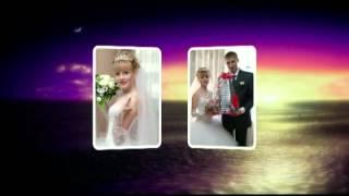 Свадебный музыкальный фото коллаж  .