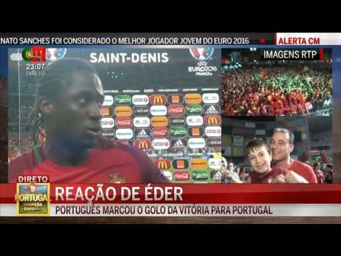 Éder Flash Interview Portugal 1 x 0 França Final Euro 2016   YouTube