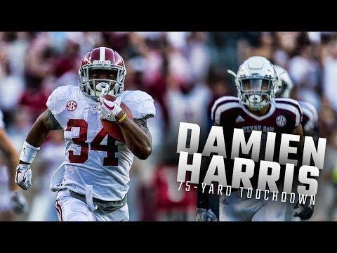 Alabama RB Damien Harris scores 75-yard touchdown vs Texas A&M