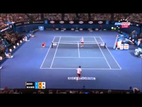 HD | HOT SHOT Stanislas Wawrinka Vs Tomas Berdych | Australian Open 2014 SF