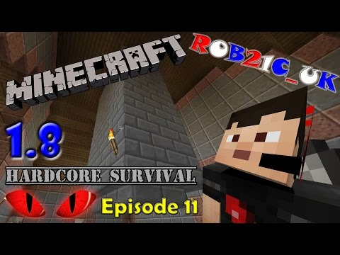 MINECRAFT 1.8 Hardcore Survival Episode 11 - Building the Chimney Stack.