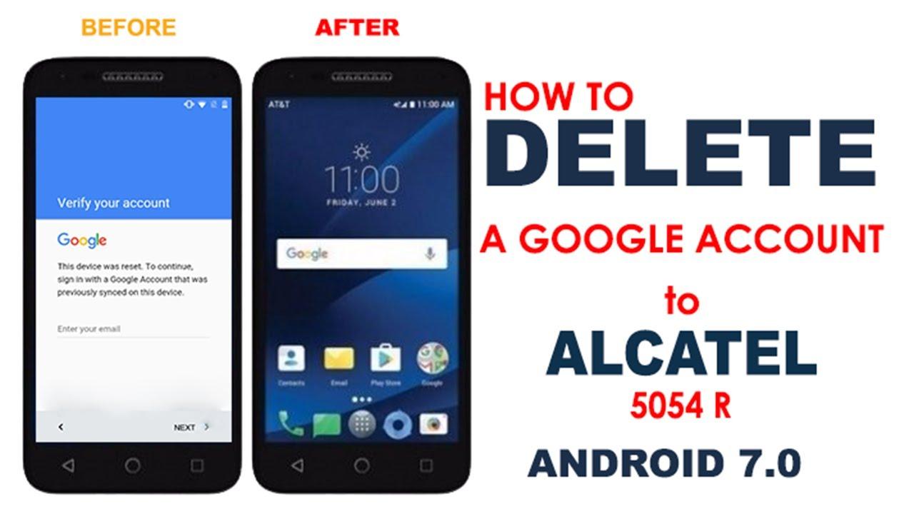 Bypass Rfp Alcatel 5054r 5044r Android 70 Supprimer Un Compte Google Alcatel 5054r 5044r