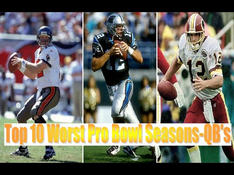 Top 10 Worst Pro Bowl Seasons-QB