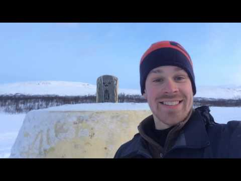 Three country border: Finland, Sweden, Norway - 29.1.2017