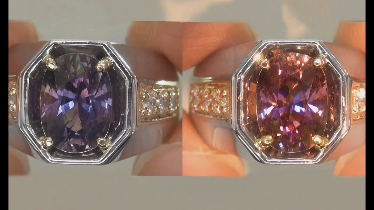 Gia Certified Unheated Natural Vvs Color Change Sapphire