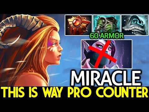 Miracle- [Lina] This Is Way Pro Counter 60 Armor Build Against TA Mid 7.22 Dota 2