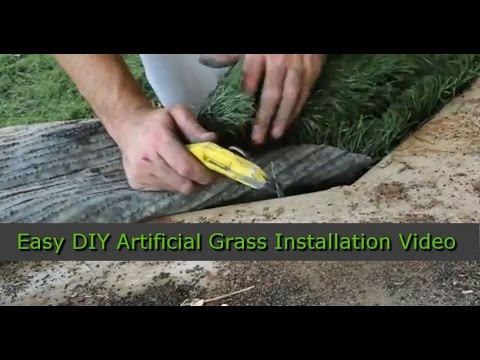 How To Install Artificial Gr Diy Recyclers
