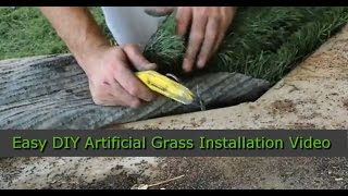 How To Install Artificial Grass | DIY | Artificial Grass Recyclers