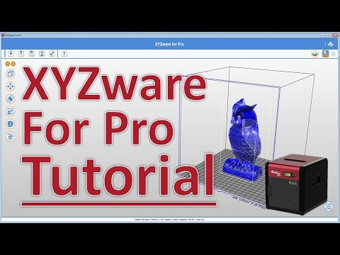 XYZware for Pro Tutorial by XYZprinting for Da Vinci Pro 1 0 - YouTube