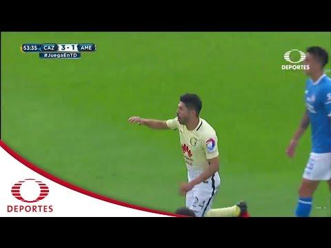 Gol de Oribe Peralta | Cruz Azul 3 - 1 América | Jornada 8 - Apertura 2016 | Televisa Deportes