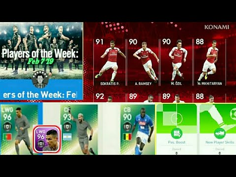 New Players Of The Week Pack, New Skill boost and New Events Upcoming to  PES 2019 MOBILE