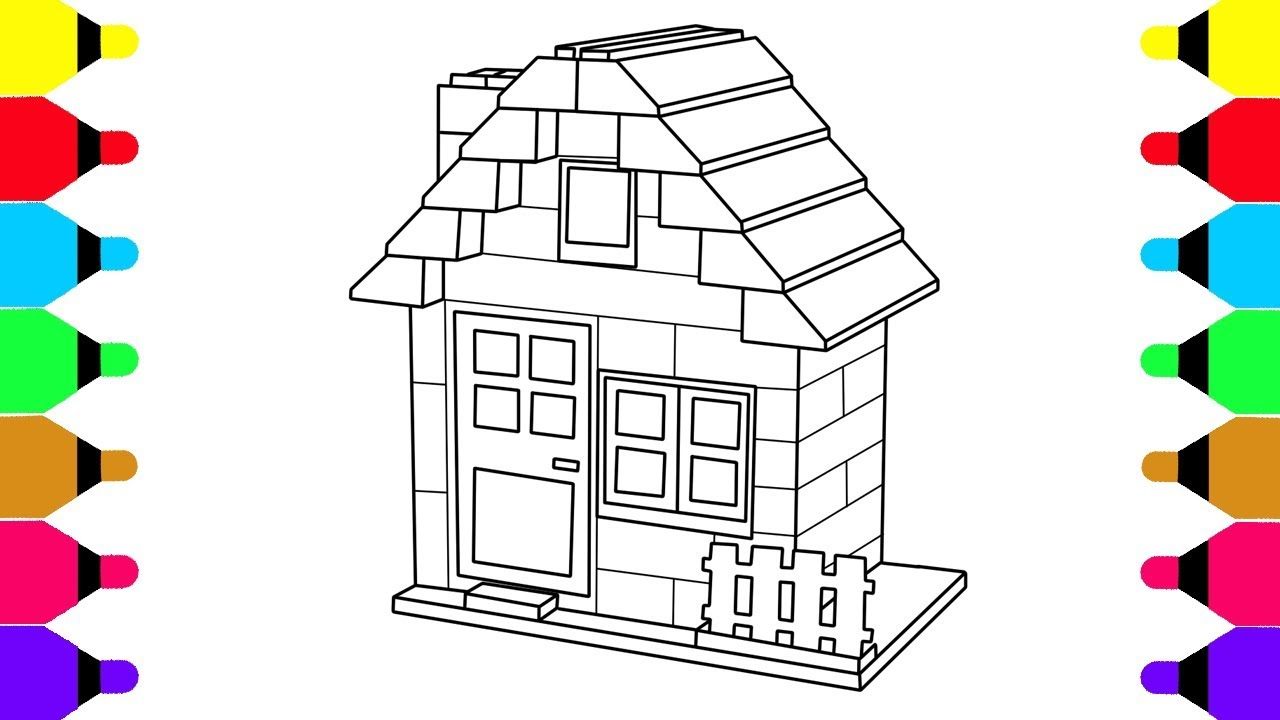 Learn colors for kids with lego house coloring pages for kids coloring book for baby