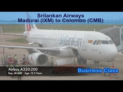 Srilankan Airways - Business Class - Madurai-Colombo  (IXM-CMB) - UL140