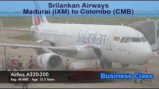 Srilankan Airways - Business Class - Madurai-Colombo  (IXM-CMB) - UL140
