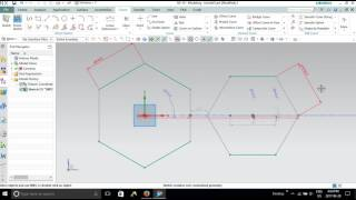 NX 10-Tutorial for Beginners( CAD/CAM)-2017-Sketching move , polygon, offset