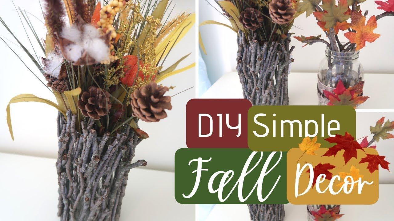 DIY Dollar Tree Fall Decor Ideas   DIY Rustic Decor   Budget Friendly Home  Decor   DIY Fall Decor