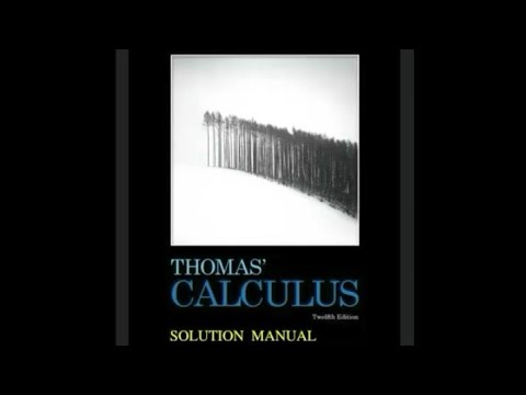 Thomas Calculus 11th Edition Solution Pdf