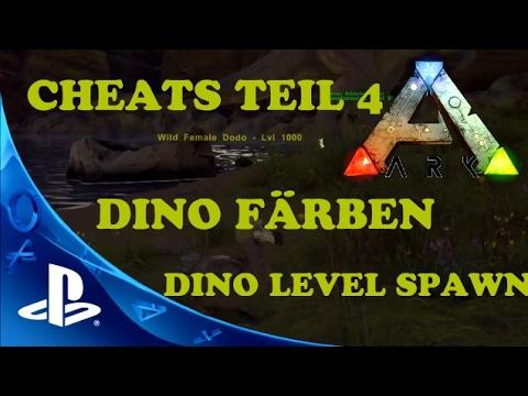 ARK PS4 CHEATS TEIL 4 - DINO LEVEL SPAWN/DINO FÄRBEN COMMAND Ark Survival Evolved PS4 Deutsch