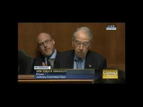 Chuck Grassley Blasts FBI for Not Providing Information to Committee