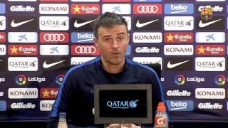 """Luis Enrique: """"El Eibar será fiel a lo que ha hecho para estar donde está en la liga"""""""