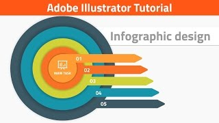 How to create vector infographic in Adobe Illustrator. Target infographics tutorial