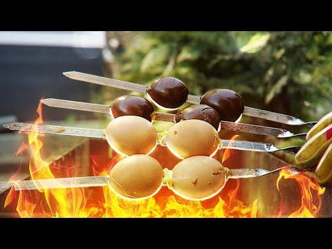 Яйца на шампурах. Проверка рецепта.
