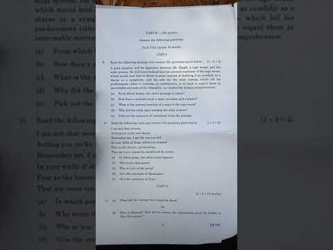 Sk Degree Second Semester 2nd English Question Paper Bb