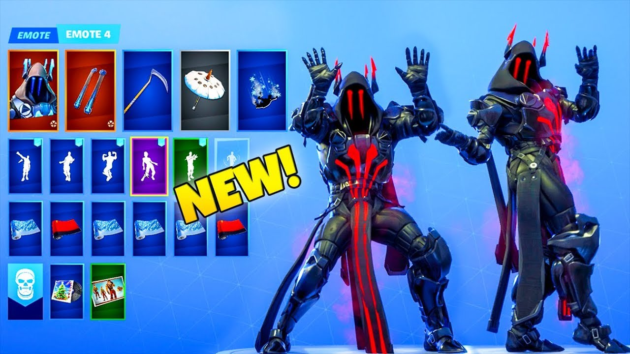 All New Emotes With Red Ice King Skin Fortnite Battle Royale