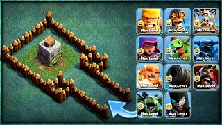 LVL 1 CRUSHER VS ALL MAX TROOPS💥 WHO WILL WIN ? | CLASH OF CLANS