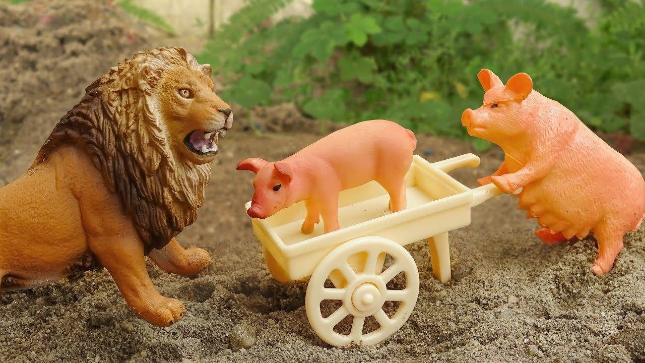 Động vật dễ thương | Lợn, sư tử, gà trống, chó – đồ chơi trẻ em FMC H1135B