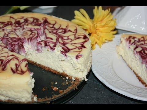 gâteau-au-fromage-&-fruits-des-champs---cheesecake-with-fieldberry-swirl---تشيزكيك
