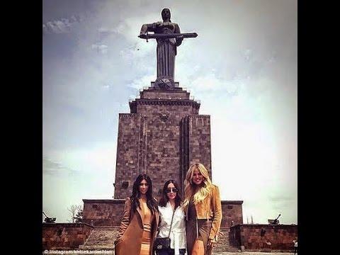 Kim Kardashian & Khloe's tour of Armenia (Photos)