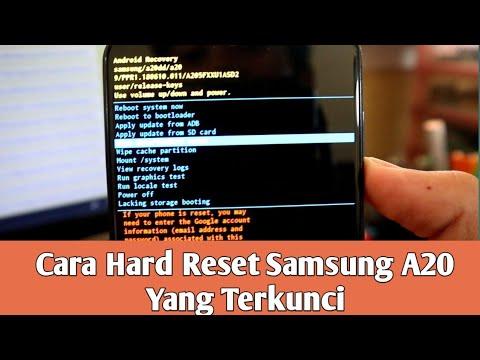 Cara Hard Reset Samsung A20 Dengan Kondisi Layar Terkunci Youtube