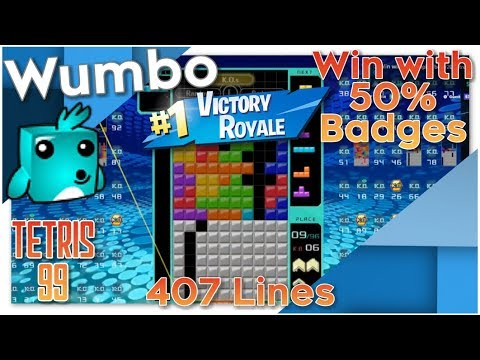 Tetris 99 Win with Badge Disadvantage, 407 Lines by Wumbotize