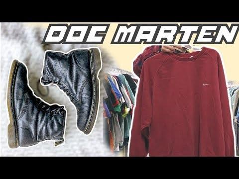 THRIFT TRIP #2: Doc Martens, Nike Sweatshirt, Adidas Windbreaker (haul)