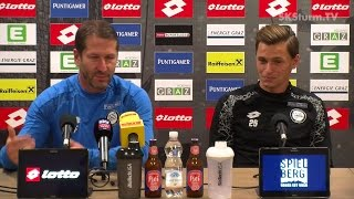 SK Sturm: Mediabriefing vor SCR Altach (15. Runde 2016/17)