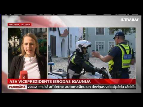 ASV viceprezidents ierodas Igaunijā