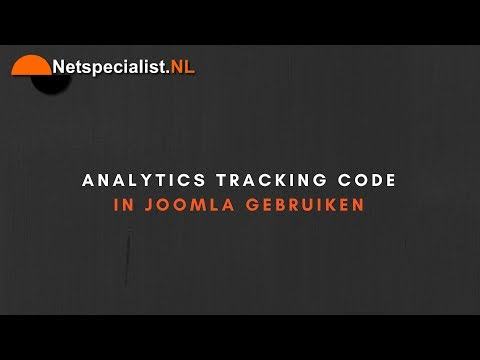 analytics tracking code in joomla plaatsen