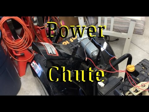 hqdefault snowblower power chute conversion youtube  at bayanpartner.co